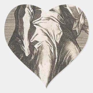 Saint Judas (ou saint Matthias) Sticker Cœur