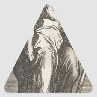 Saint Judas (ou saint Matthias) Sticker Triangulaire