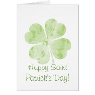 Saint Patrick de shamrock de trèfle de feuille de Carte De Vœux