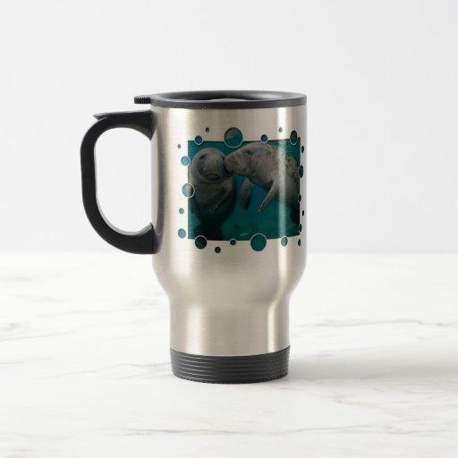 Saint-Valentin d'amour de lamantin Tasses À Café