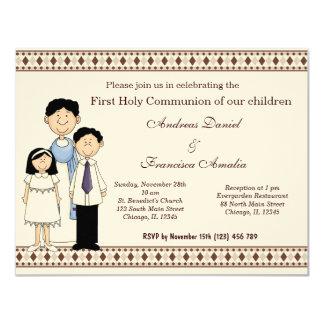 Sainte communion carton d'invitation 10,79 cm x 13,97 cm