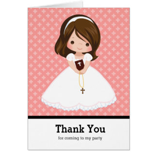 Sainte communion de Merci Carte De Vœux