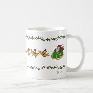Sainte riding his sleigh mug
