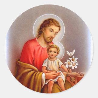 """Saints """"de jour de fête de St Joseph petits"""" """"de Sticker Rond"""