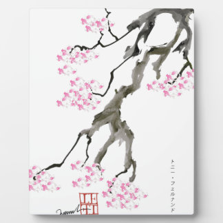 Sakura avec le poisson rouge rose, fernandes photos sur plaques