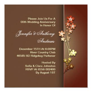 sakura van de huwelijksverjaardag 13,3x13,3 vierkante uitnodiging kaart