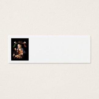 Salaison de Madonna et de l'enfant du Christ Mini Carte De Visite