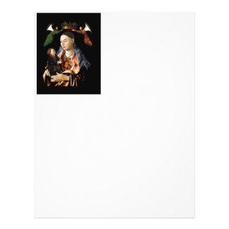 Salaison de Madonna et de l'enfant du Christ Prospectus 21,6 Cm X 24,94 Cm