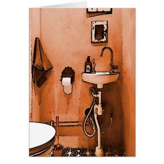 Salle de bains couleur pêche géniale carte