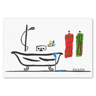 salle de bains papier mousseline