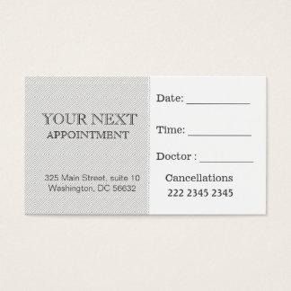 Salon blanc noir de motif de plaid de rendez-vous cartes de visite