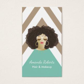 Salon de beauté de cheveux d'Afro de coiffeur de Cartes De Visite