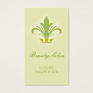 Salon de beauté, vert de conception de carte de