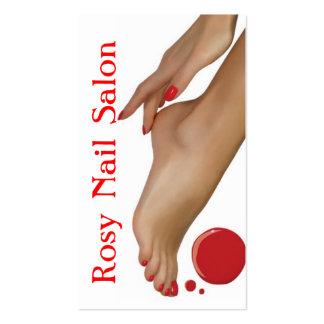 Salon de clous beauté carte de visite de spa