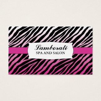 Salon rose de coiffeur de coiffeur d'impression de cartes de visite
