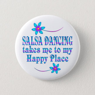 Salsa mon endroit heureux badge rond 5 cm