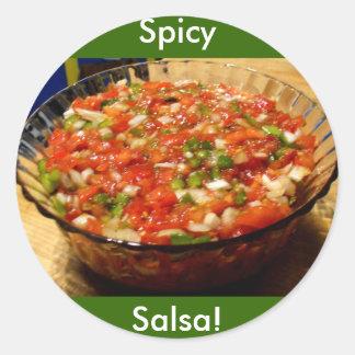 Salsa nouvellement fabriqué sticker rond