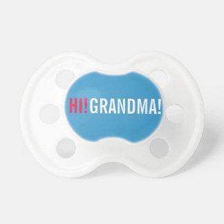 Salut faire-part de grossesse de grand-maman - tétine pour bébé