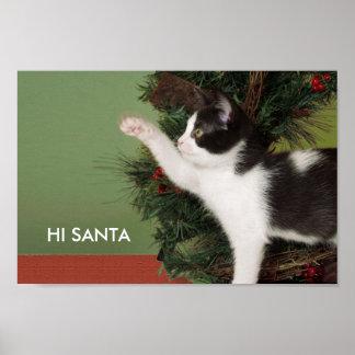 """""""Salut, Père Noël,"""" affiche humoristique de Noël"""