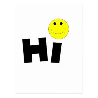 Salut (visage souriant) carte postale