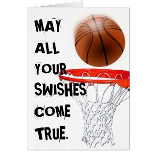 Salutation d'anniversaire de basket-ball carte de vœux