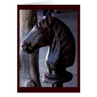 Salutation de courrier s'accrochant de Horsehead Carte De Vœux