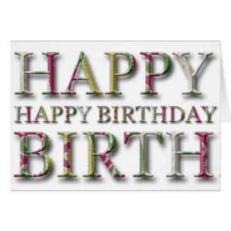 Salutation de joyeux anniversaire avec des lettres carte