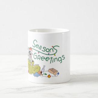 Salutation de saison de raton laveur mug