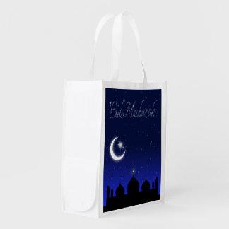 Salutation d'Eid Mubarak - sac réutilisable