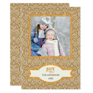 Salutation/JOIE fleuries de photo de vacances de Carton D'invitation 12,7 Cm X 17,78 Cm