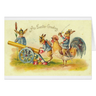 Salutation militaire de Pâques !  Carte de Pâques