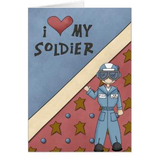 Salutation militaire de soldat d'homme de l'Armée Carte