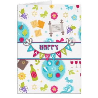 Salutation moderne colorée de pâque carte