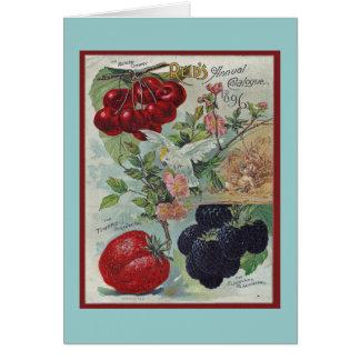 salutation vintage de jardiniers carte de correspondance