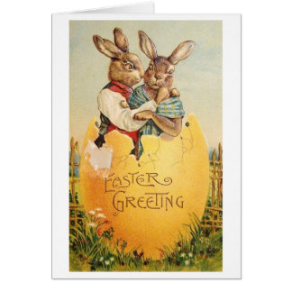 Salutation vintage de Pâques !  Carte de Pâques