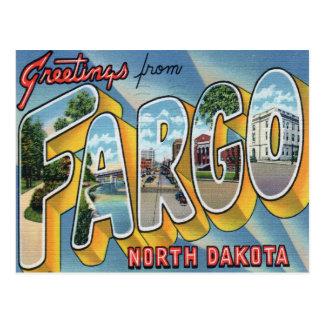 Salutations de carte postale de Fargo