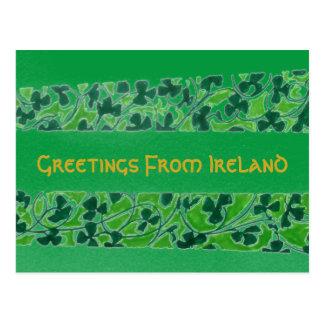 Salutations de carte postale de l'Irlande