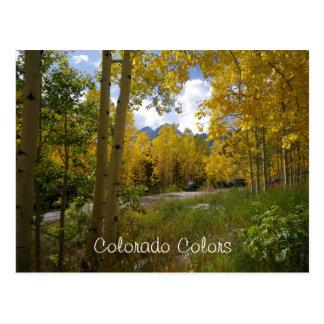 Salutations de carte postale du Colorado