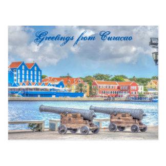 Salutations de carte postale du Curaçao