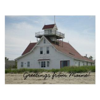 Salutations de carte postale du Maine