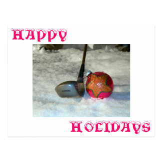 Salutations de golfeurs carte postale