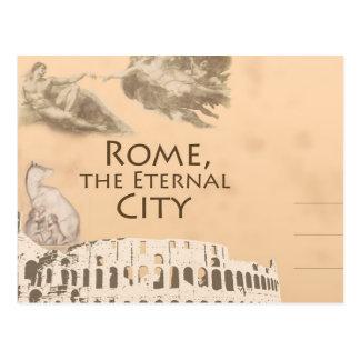 Salutations de la carte postale romaine de