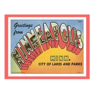 Salutations de Minneapolis Carte Postale