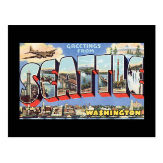 Salutations de voyage de Seattle Carte Postale
