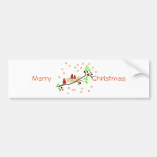 Salutations mignonnes de vacances de Noël de Autocollant De Voiture