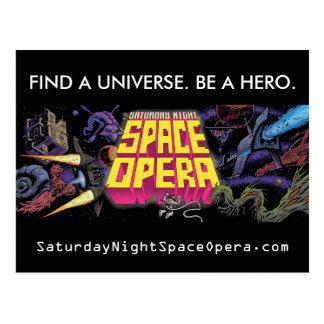 Samedi soir carte postale d'opéra de l'espace