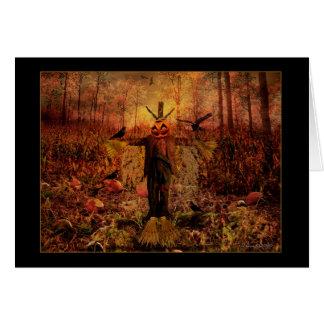 Samhain béni - carte d'épouvantail