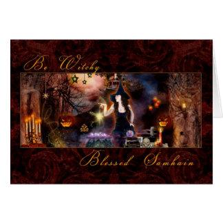 Samhain béni - soyez carte de Witchy