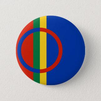 Sami, Finlande Badge Rond 5 Cm