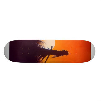 samouraïs foncés skateboards
